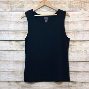 Chico's Additions Black Career Tank Size Large